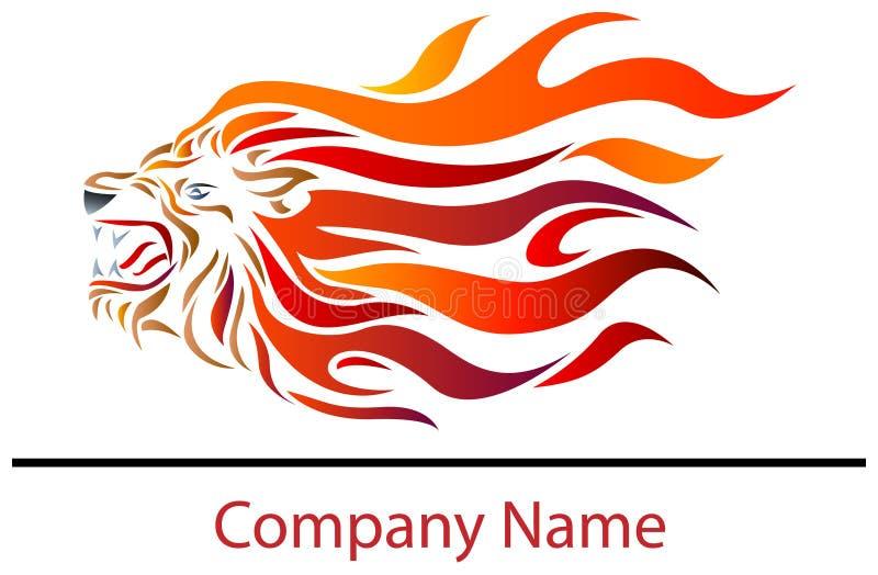 Lion fire vector illustration