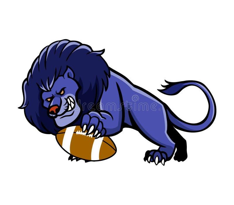 Lion Football Mascot illustration libre de droits