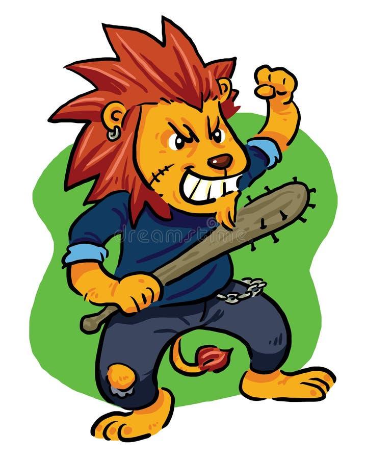 Lion fou illustration de vecteur