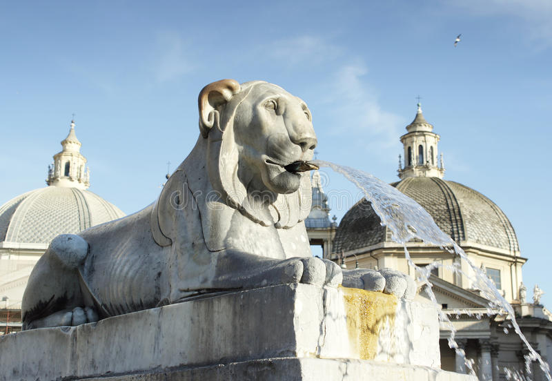 Lion fountain royalty free stock photography