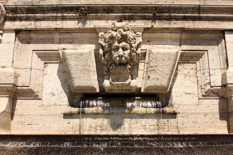 Lion Fountain Rome Italy stock foto's