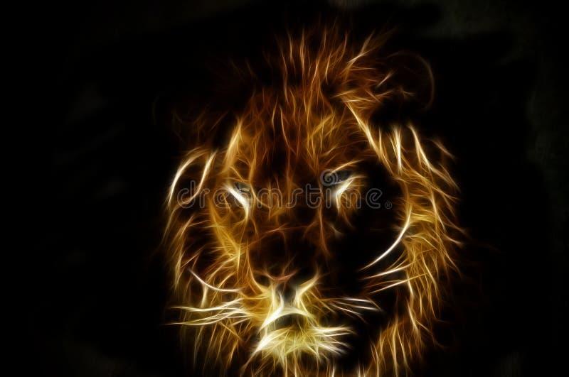 Lion Fractal fotografia de stock