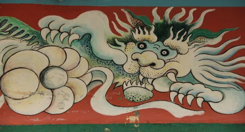 Lion Fresco imagem de stock