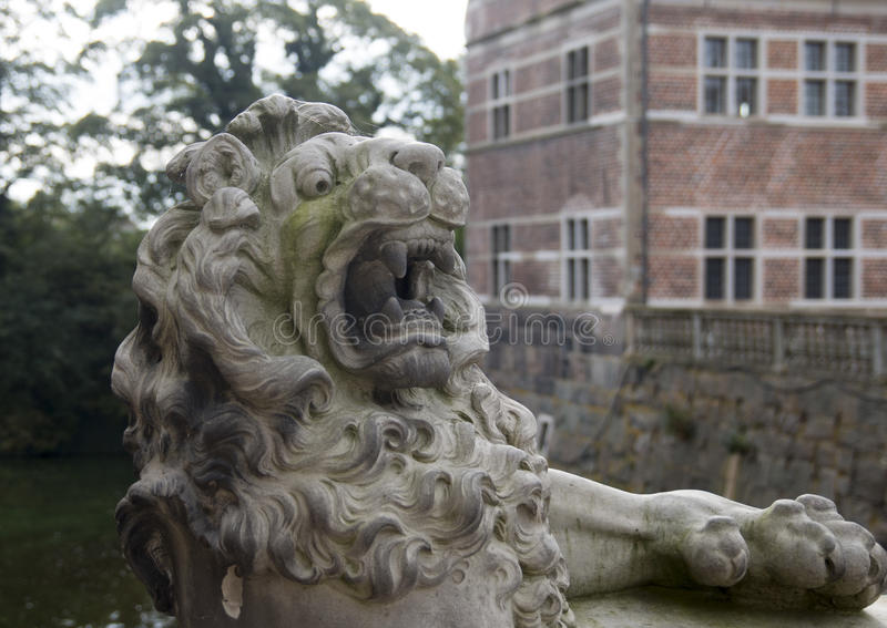 Lion in Friederiksborg castle royalty free stock photos