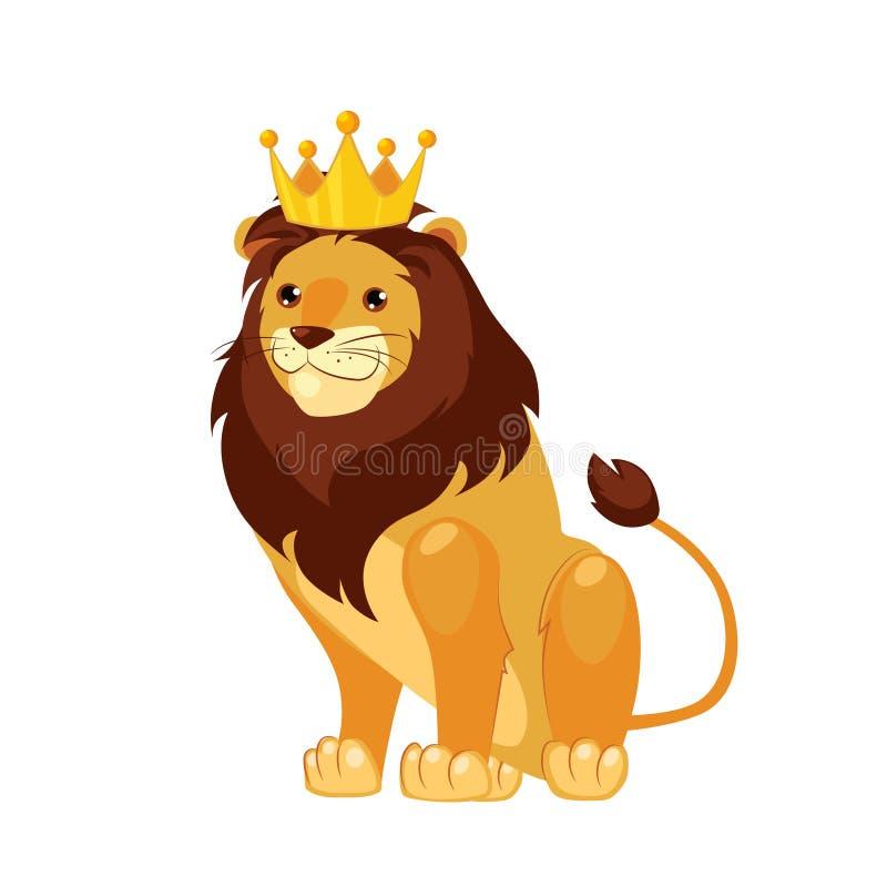 Lion. Funny Alphabet, Animal Vector Illustration. Lion. Funny Alphabet, Colourful Animal Vector Illustration stock illustration