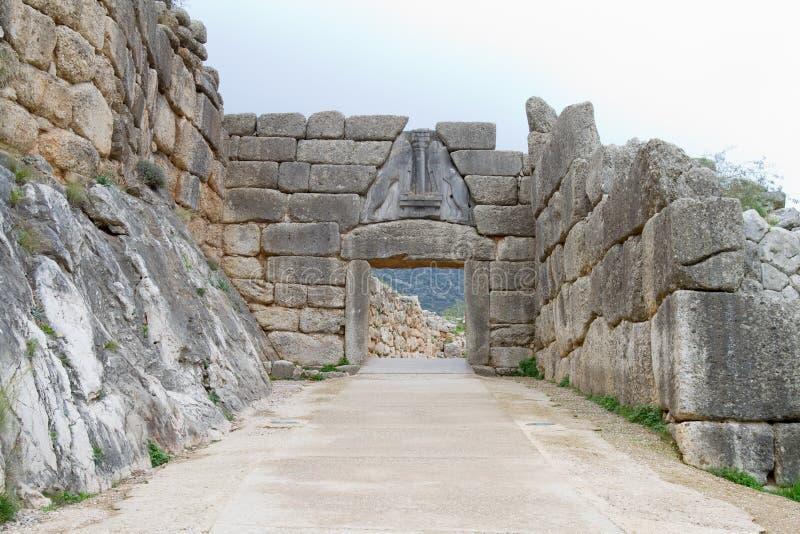 The Lion Gate of Mycenae royalty free stock photos