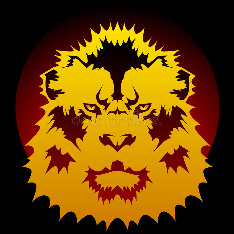 Lion Graphic Royalty Free Stock Images