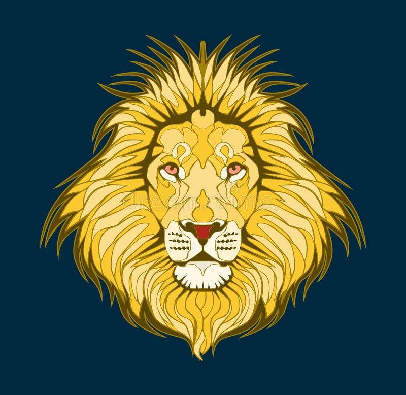 Lion head– stock illustration – stock illustration file royalty free illustration
