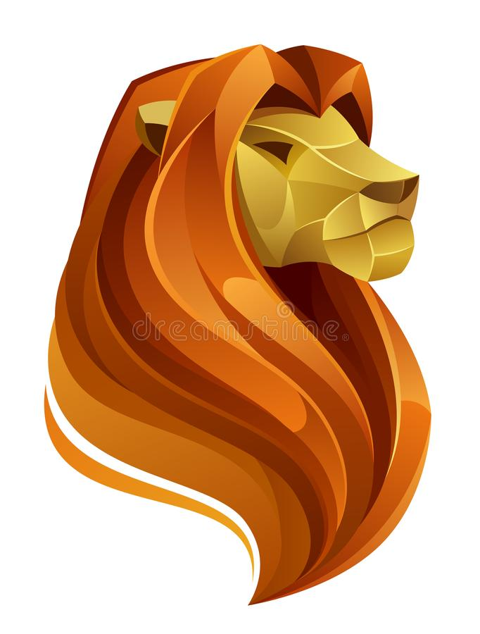 Lion Head illustration stock