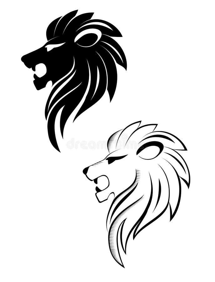Download Lion head stock vector. Illustration of anger, roaring - 18196553