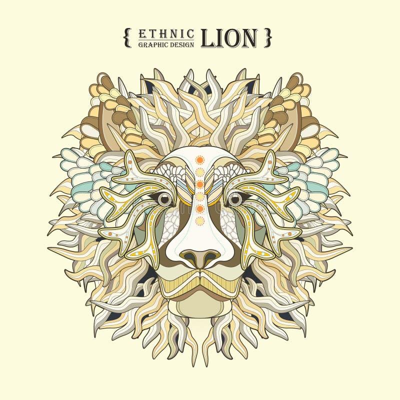 Lion Head ilustración del vector