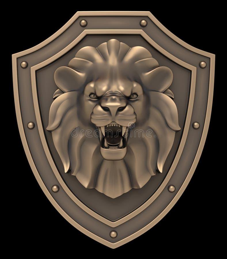 Lion Head Blazon stock illustration