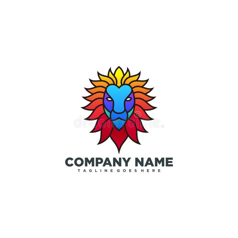 Lion Head-de vectorontwerpsjabloon van de ideeillustratie royalty-vrije illustratie
