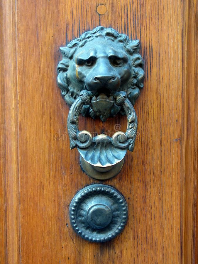 Lion Head Door Knocker royalty free stock images