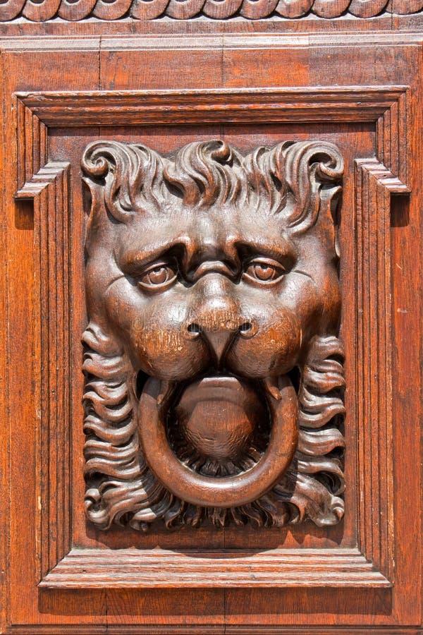 Download Lion head door knocker stock image. Image of carving - 32234039