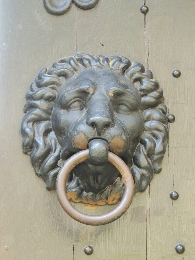 Lion Head Doorknob fotografia de stock