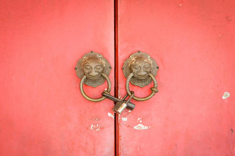 Download Lion Head Doorknocker Chinese Style Stock Images - Image: 35000284
