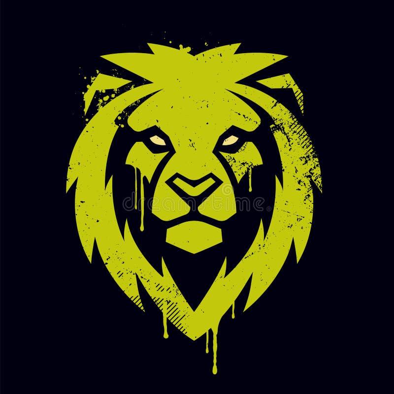 Lion Head Vector Graffiti Art royalty free illustration