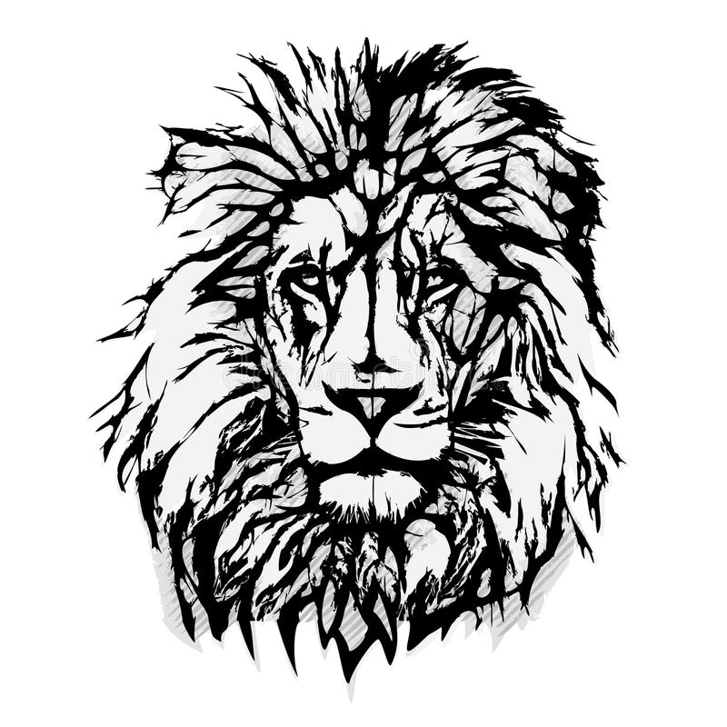 Free Lion Head Graphic Stock Image - 45469491