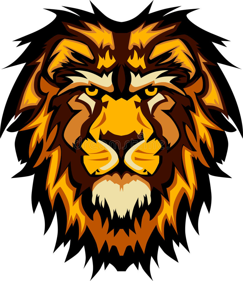 Free Lion Head Graphic Mascot Vector Image Royalty Free Stock Images - 20880119