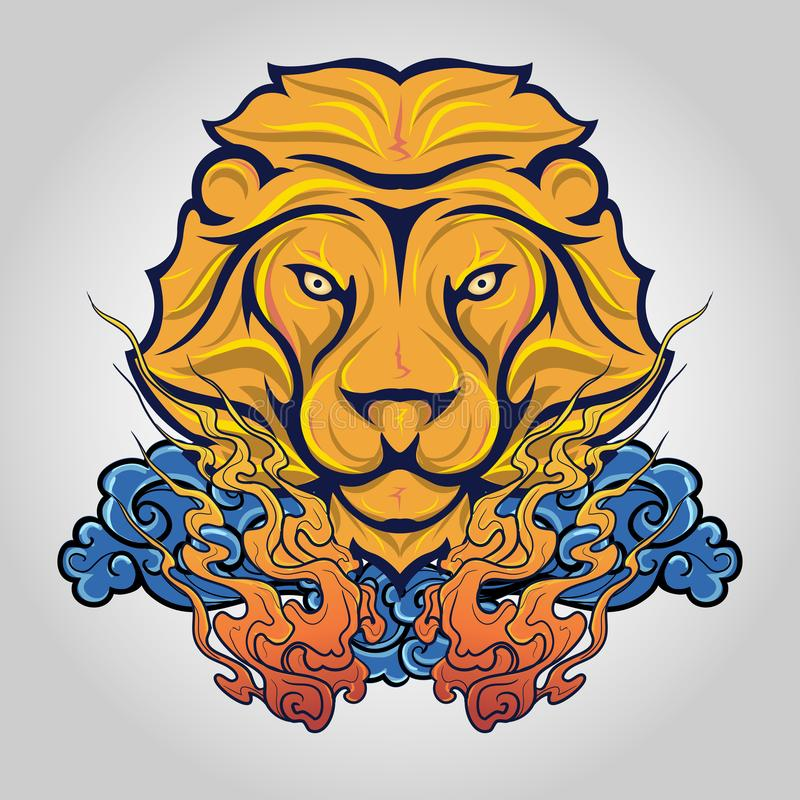 Lion head icon logo. Vector stock images