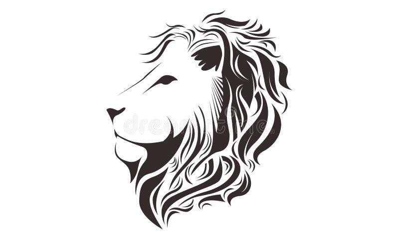 Line Art Lion : Lion head line art drawing illustration stock image