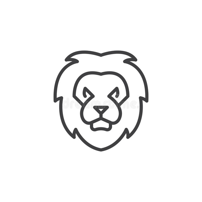 Lion Head Line Icon Outline Vector Sign Stock Vector Illustration Of Pictogram King 89697251 Browse our lion outline images, graphics, and designs from +79.322 free vectors graphics. lion head line icon outline vector