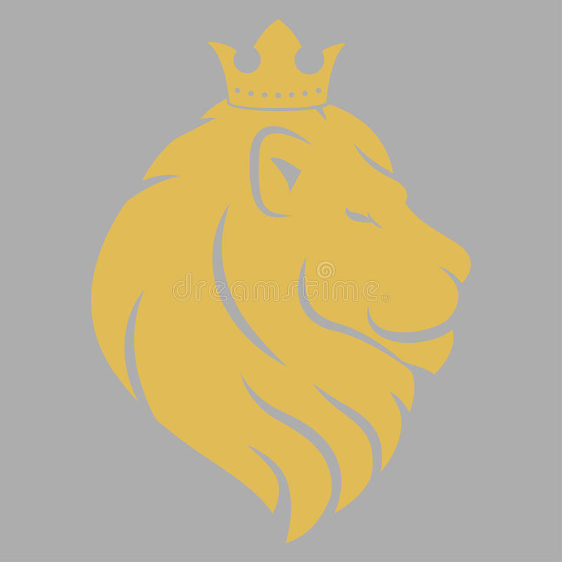Lion Head Logo illustration de vecteur