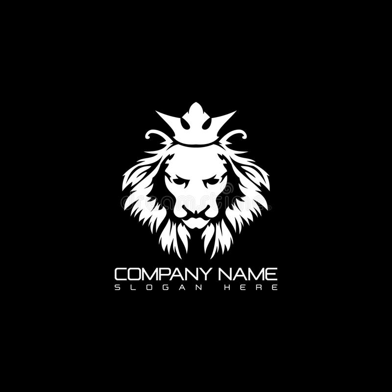 Lion head logo design. Sports logo. Power sign vector illustration