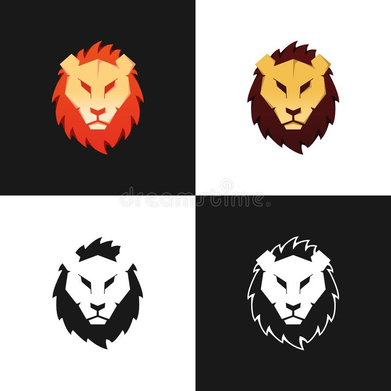Lion Head Logo Set illustration libre de droits
