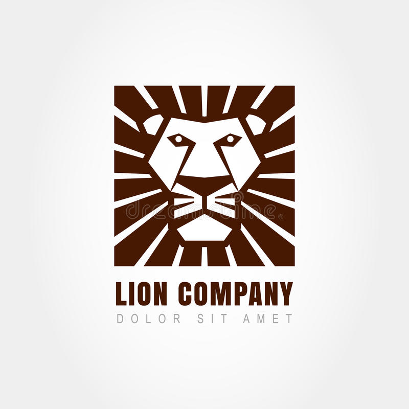 Free Lion Head Logo Template, Symbol Of Strength, Power, Guard And Se Royalty Free Stock Image - 46764246