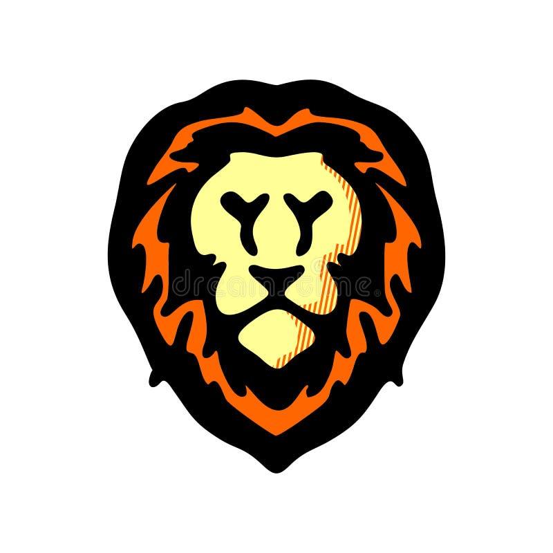 Lion Head Logo Vector, illustratie vectorontwerp vector illustratie