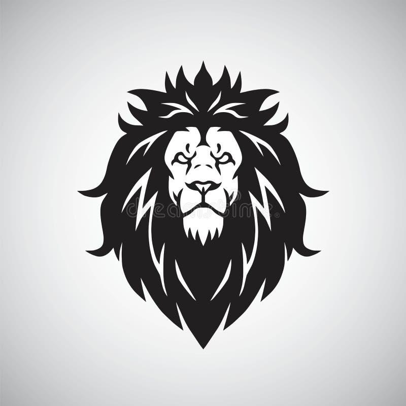 Lion Head Logo Vector Mascot illustrationsymbol stock illustrationer