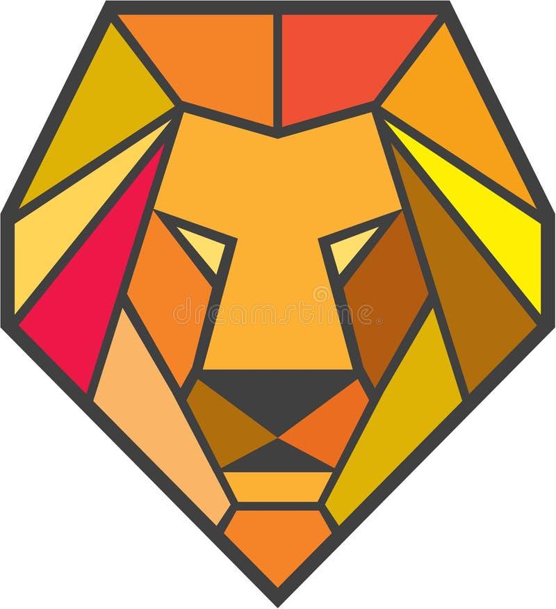Lion Head Low Polygon stock de ilustración