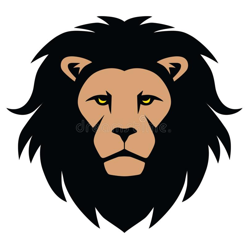 Lion Head Mascot Cartoon ilustração stock
