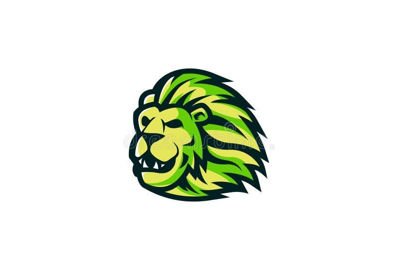 Lion Head Mascot Design royaltyfri illustrationer