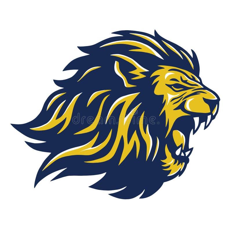 Lion Head Mascot selvagem ilustração stock