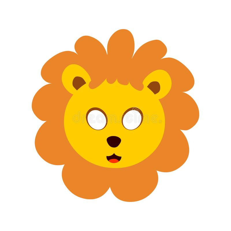 Lion head mask.Animal head vector vector illustration