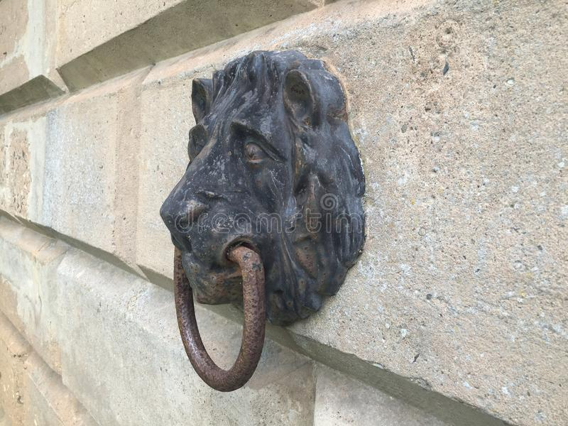 Lion head mooring point stock photography