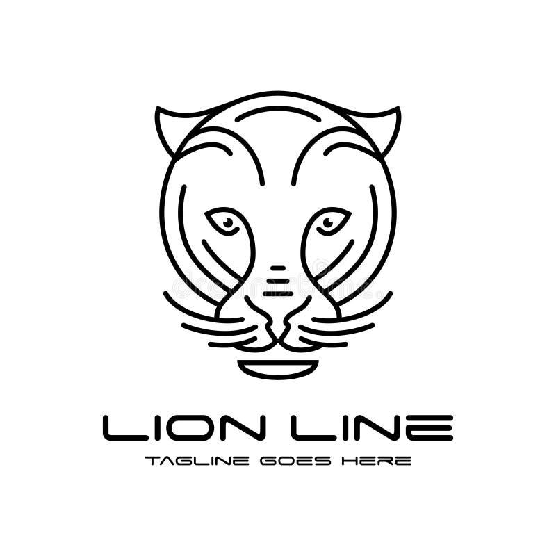 Lion head outline logo. Your company vector illustration