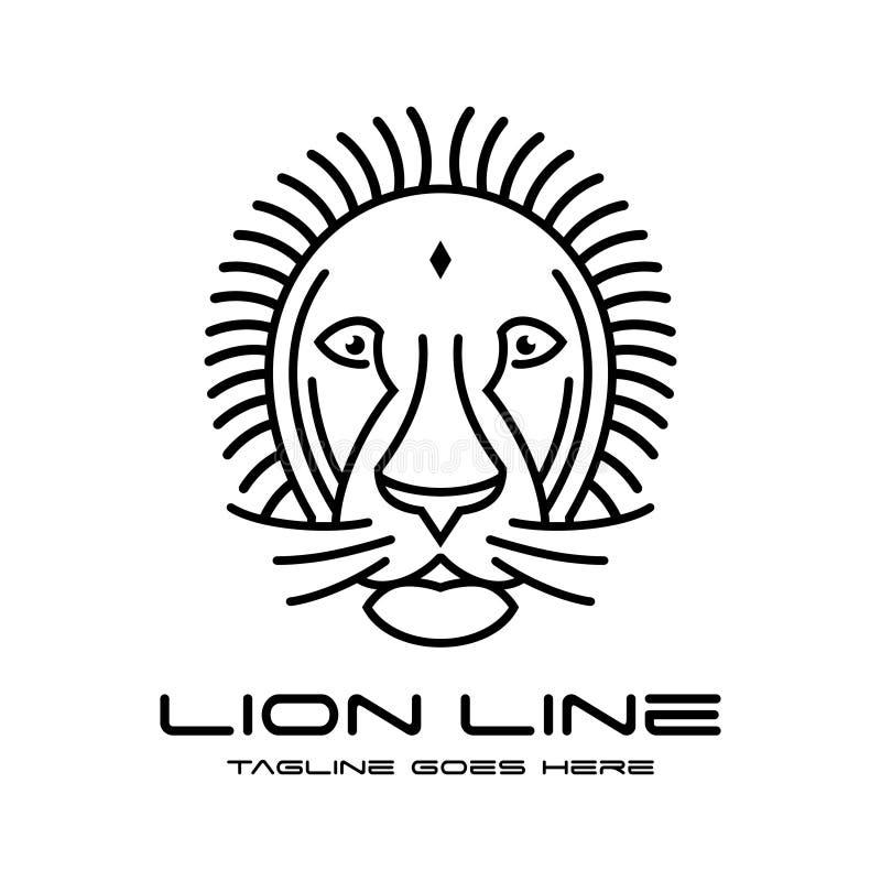 Lion head outline logo. Your company stock illustration