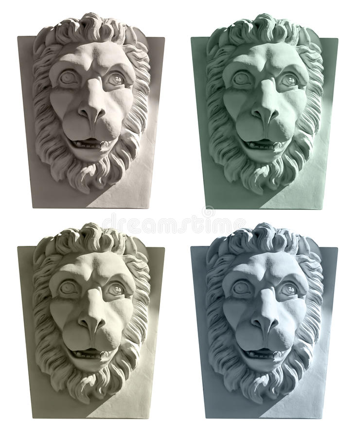 Lion Head Sculpture image libre de droits
