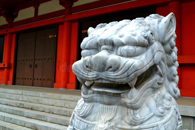 Download Lion Head Sculpture In Japan Stock Photo - Image: 33017750