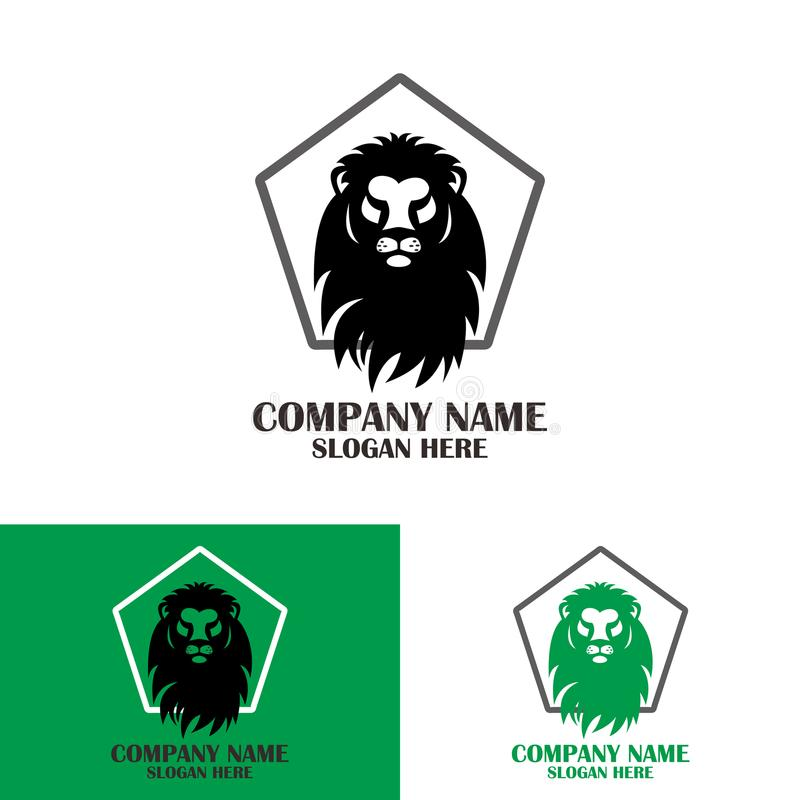 Lion head strong icon stock images
