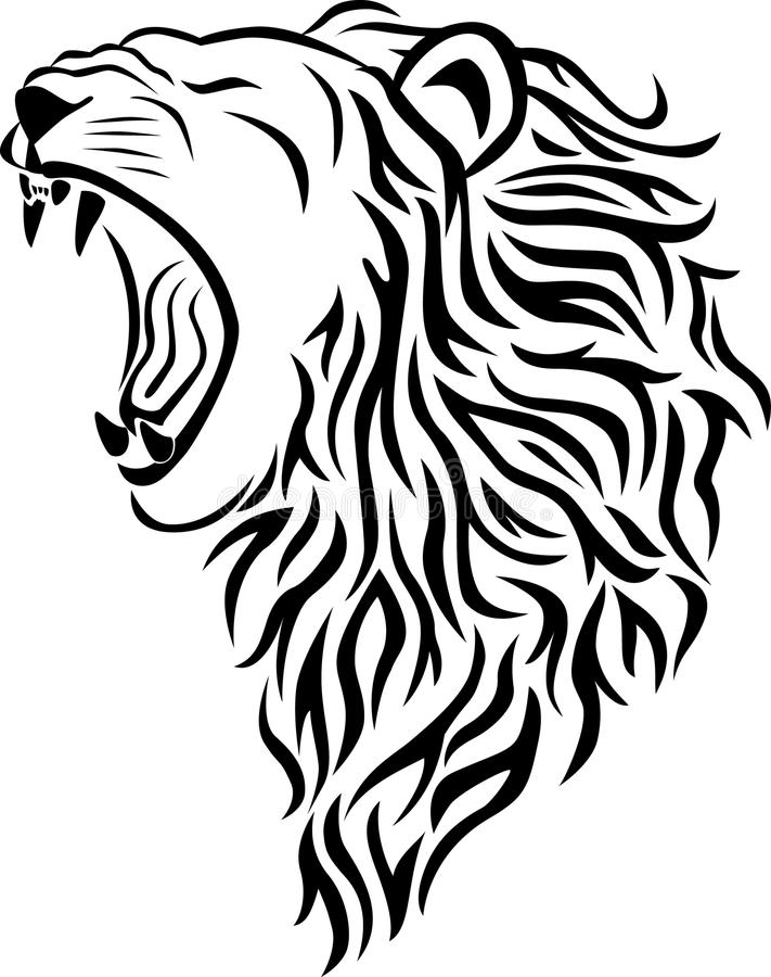 Download Lion head tattoo stock vector. Image of mammal, ornament - 15415569