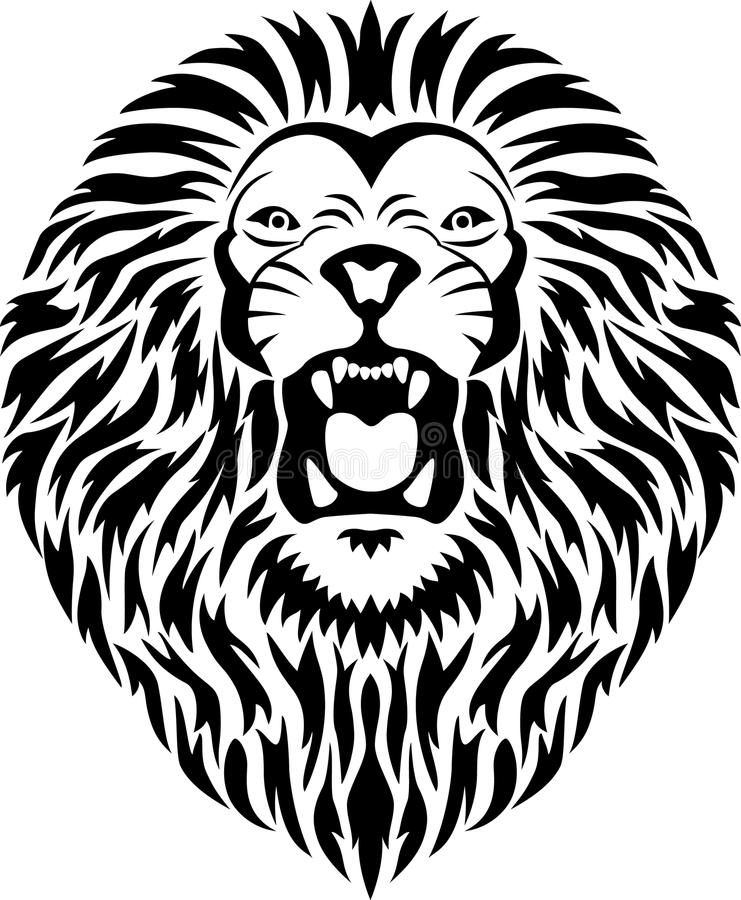 Download Lion head tattoo stock vector. Image of baroque, hunting - 15443962