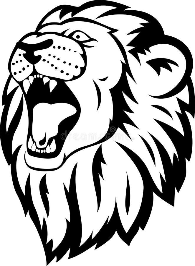 lion head tattoo stock vector image of mammal heraldic 26584180. Black Bedroom Furniture Sets. Home Design Ideas
