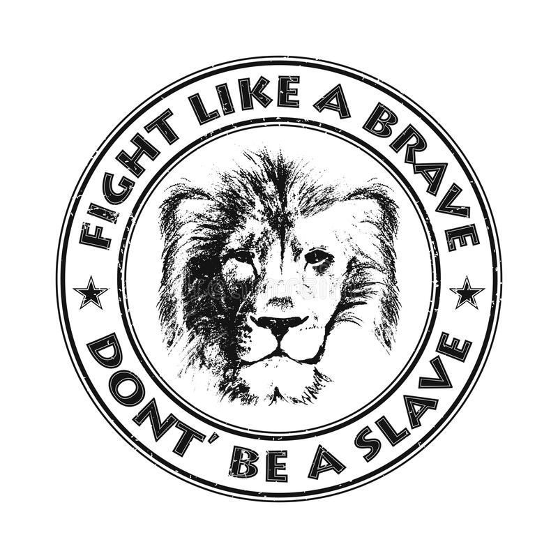 Lion Head Tiré par la main Illustration de vecteur illustration libre de droits