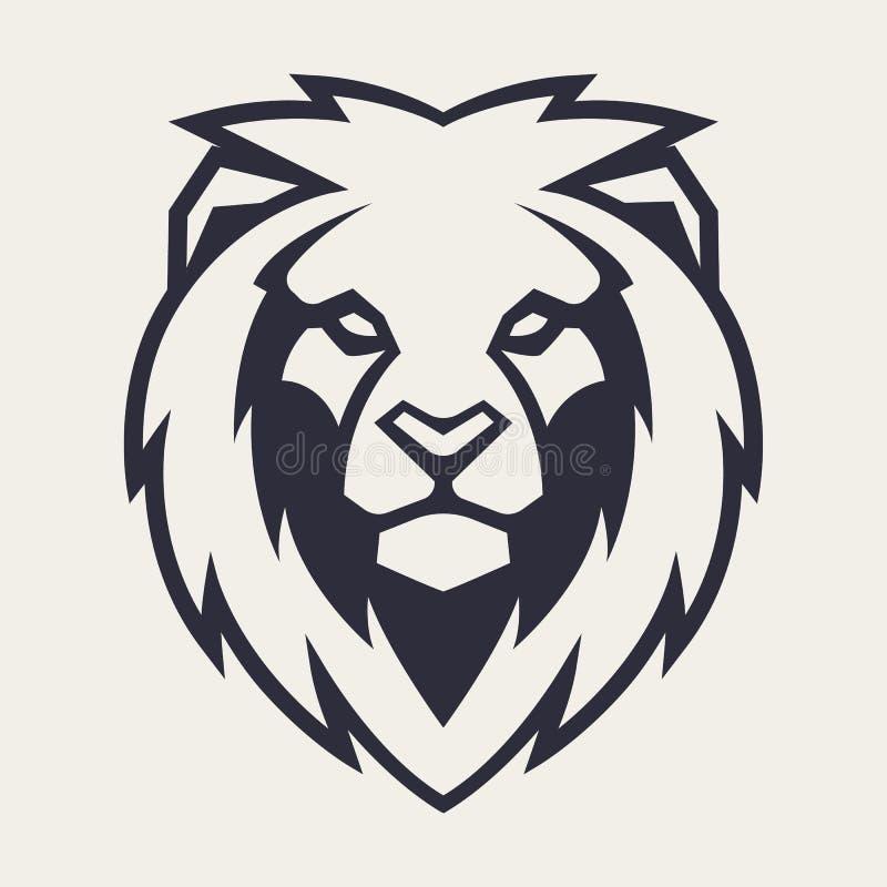 Lion Head Vector Mascot illustration libre de droits