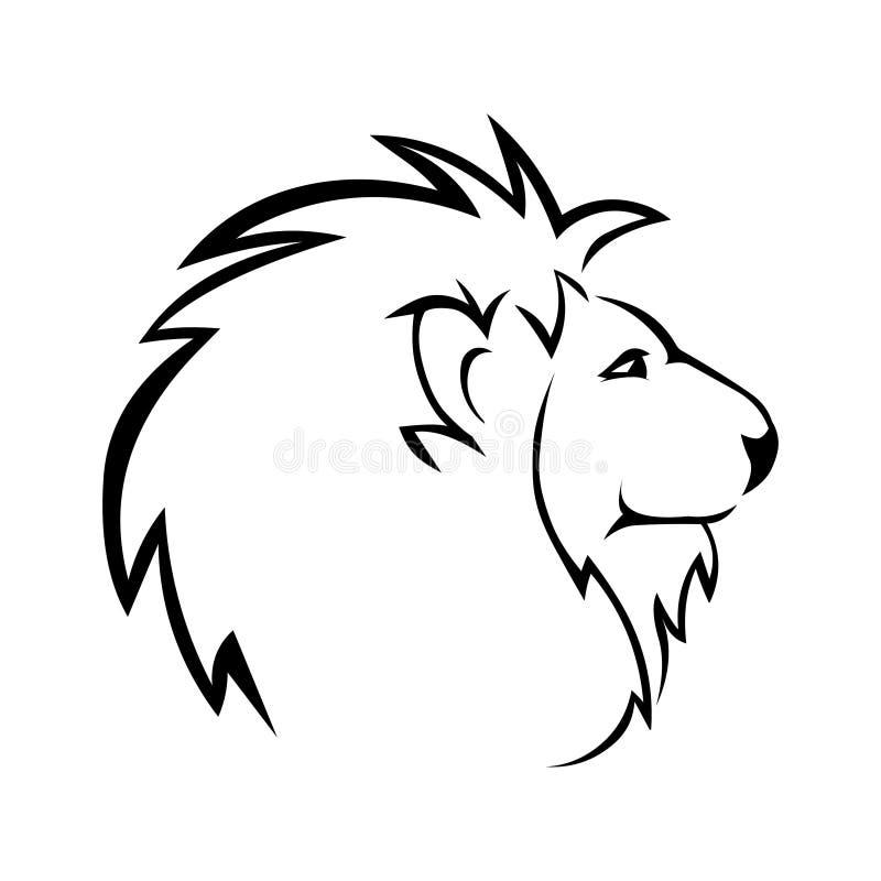 Lion head vector stock. Lion head icon. vector illustration